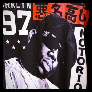 Notorious BIG black/Red 2XL shirt